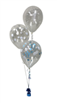Balloon Arrangement 1St Birthday Boy 3 Clear Balloons 106