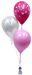 Balloon Arrangement 1St Birthday Girl 3 Balloons 101