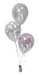 Balloon Arrangement 1St Birthday Girl 3 Clear Balloons 105