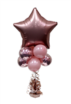 Balloon Arrangement Star Tall Topiary With Foil 124