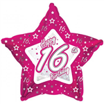 Balloon Foil 18 16Th Birthday Star Pink