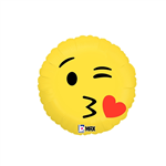 Balloon Foil 18 Emoji Kiss