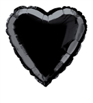 Balloon Foil 18 Heart Black