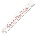 Banner Foil Rose Gold 21st Birthday