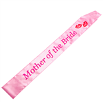Bride To Be Sash Flashing Mother Bride Light Pink