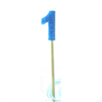 Candle 1 Long Pick Blue Glitter