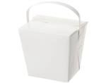 Castaway Food Pail 32Oz White With Handle 25 Pack