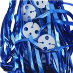 Clipped Ribbons Metallic True Blue 25 Pack