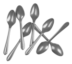 Five Star Dessert Spoons Metallic Silver 20 Pack