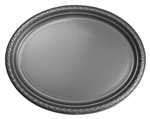 Five Star Oval Large Plate 12 Met Silver 20 Pack