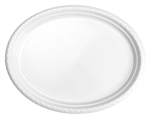 Five Star Oval Large Plate 12 White 20 Pack