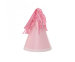 Five Star Party Hat With Tassel Topper Classic Pink 10 Pack