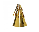 Five Star Party Hat With Tassel Topper Metallic Gold 10 Pack