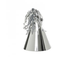 Five Star Party Hat With Tassel Topper Metallic Silver 10 Pack