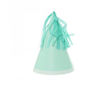 Five Star Party Hat With Tassel Topper Mint Green 10 Pack