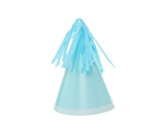 Five Star Party Hat With Tassel Topper Pastel Blue 10 Pack