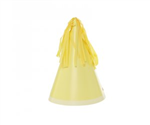 Five Star Party Hat With Tassel Topper Pastel Yellow 10 Pack