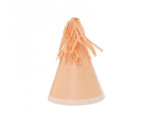 Five Star Party Hat With Tassel Topper Peach 10 Pack