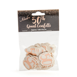 Giant Confetti 50th Rose Gold 100 Pack
