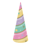 Unicorn Sparkle Horn Paper Cone Hats 8 Pack