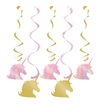 Unicorn Sparkle Party Dizzy Danglers 5 Pack